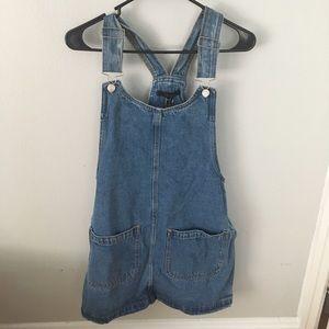 NWT Denim Overall Dress